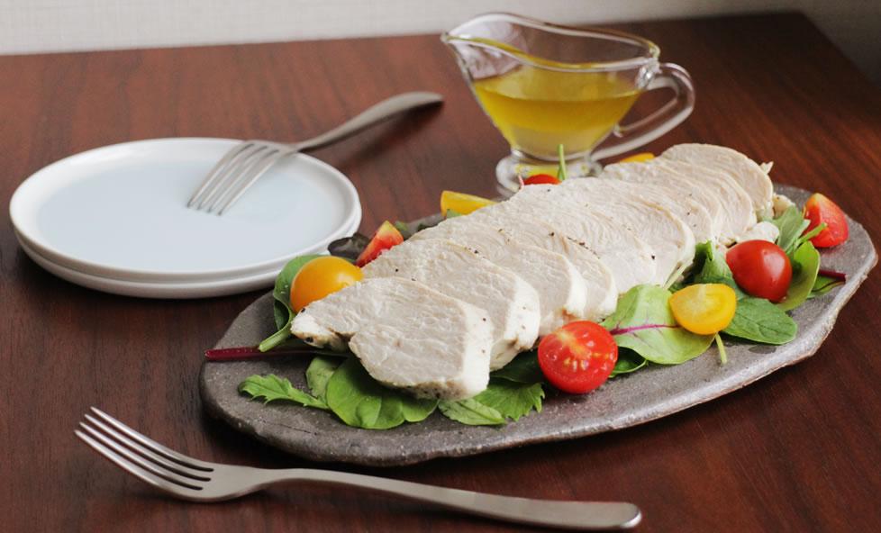 糖質制限にも!お酢とグレープフルーツでさっぱり「自家製サラダチキン」