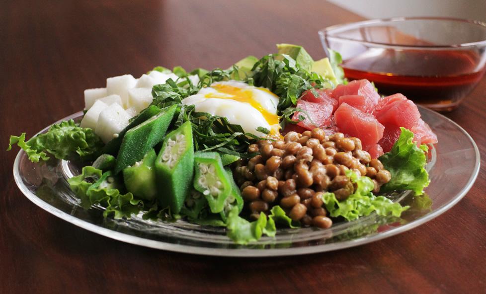 納豆+野菜で腸内大掃除!切って盛るだけ「納豆和風コブサラダ」
