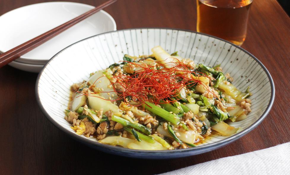 白菜使いきりレシピ vol.2 豆腐代わりに!ご飯がすすむピリ辛「麻婆白菜」