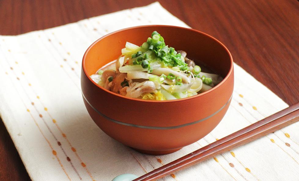 白菜使いきりレシピ vol.3 味噌×ヨーグルト!ダブル発酵パワー味噌汁