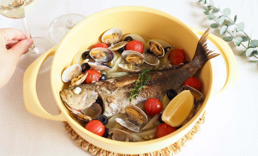 【発酵レシピ】お酒のアテに最高!「イサキの塩麹アクアパッツァ」