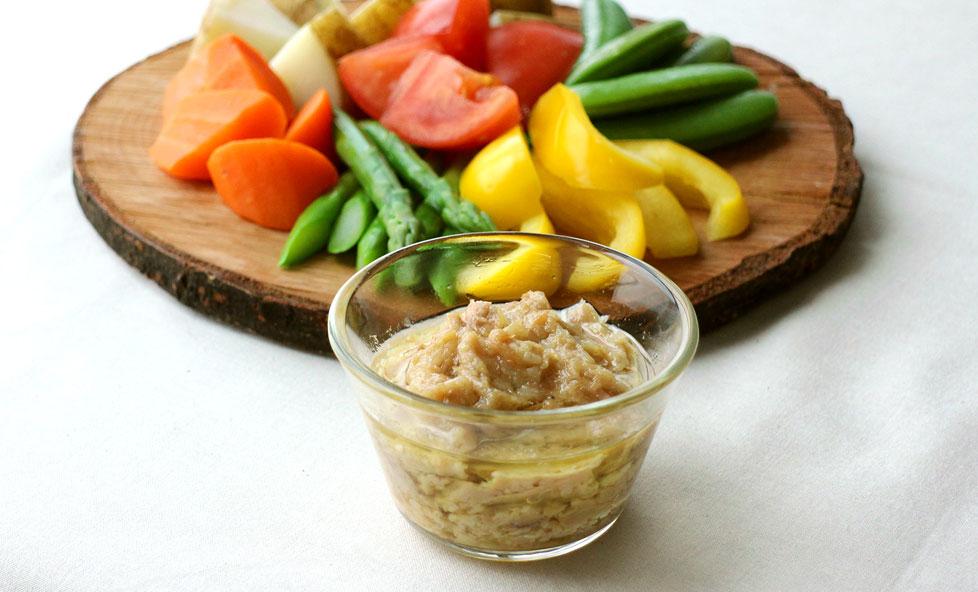 アンチョビなしで本格派 塩麹とツナのバーニャカウダ風ソース