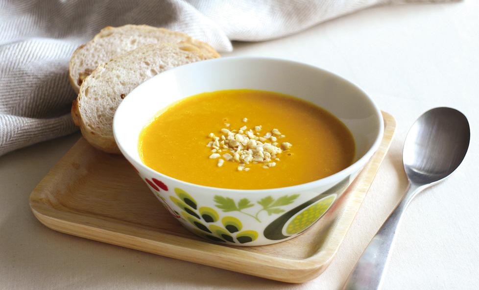 甘酒のコクで味を格上げ♪自然な甘みが美味しい「かぼちゃと甘酒のスープ」